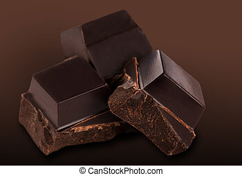dark chocolate bars - Dark chocolate bars on a white...