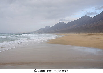 Beach Cofete on the west coast of Fuerteventura, Spain