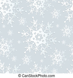 Seamless pattern grey with snowflakes - Beautiful seamless...