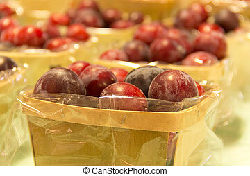 Mirabelle Plums - Delicious organic red mirabelle plums at...