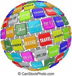 Travel Word Translation Different Global Languages Culture...