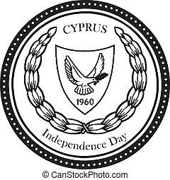 Independence Day Cyprus - Symbolic stamp mark Independence...