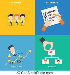 Element of human resource concept icon in flat design