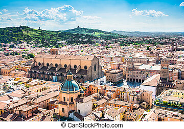 Bologna - Bologna,Italy-May 17,2014:panorama of Bologna view...