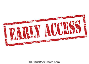 Early access - Rubber stamp with text early access inside,...