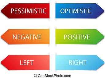 color vector arrows - advertising color arrows with text...