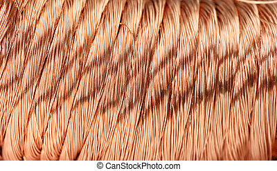 copper wire - Big pile of copper wire