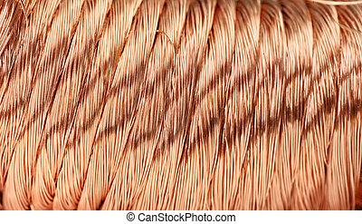 copper wire - Big pile of copper wire
