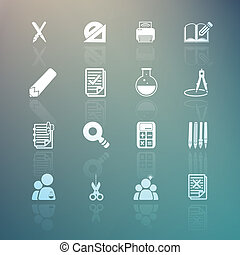 tools learning set on Retina background