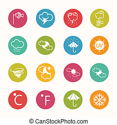 icons weather  Circle Series - eps.10