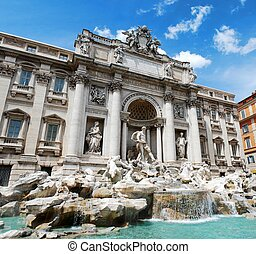 Fountain di Trevi - famous Rome's place - Fountain di Trevi...