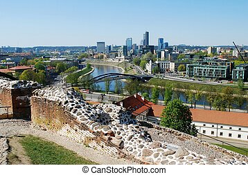 Vilnius city view from Gediminas castle Lithuania