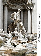 Fountain di Trevi - famous Romes place - Fountain di Trevi -...