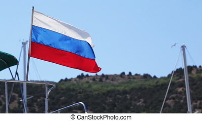 Russian flag - Developing mast yacht flag Russia