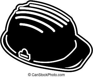 construction helmet - under construction sign