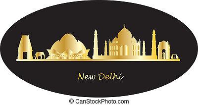new delhi india skyline