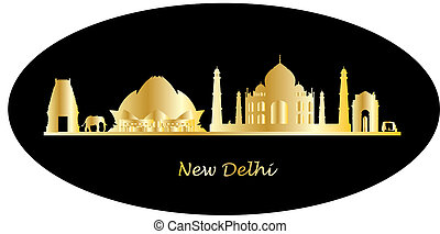 india city new delhi skyline