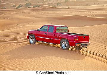 """Red sand desert - Red sand """"Arabian desert"""" near Dubai, UAE"""