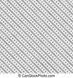 Light Gray and White Small Polka Dots and Stripes Pattern Repeat