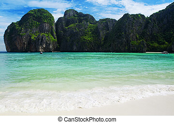 Famous beach in Thailand