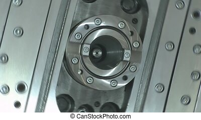 The rotation of the machine parts - Machine for machining...