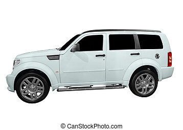 4x4 suv - strong 4x4 suv isolated on white background0