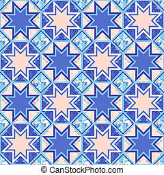 Vector Quilt Abstract Seamless Pattern - Vector quilt...