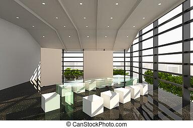 office interior modern - Office Interior Modern with Black...