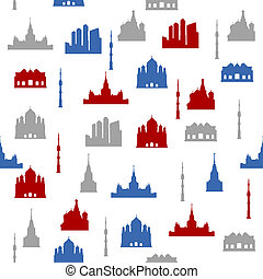 Moscow seamless pattern
