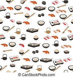 Japanese food seamless pattern