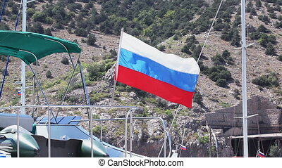 Russian flags - Developing mast yacht flag Russia