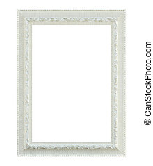 White frame isolated on white background