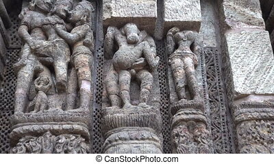 Konark temple erotic sculpture - beautiful ancient erotic...