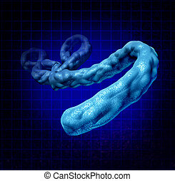 Ebola Virus - Ebola virus disease medical concept as a three...