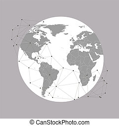 World globe Vector Illustration, background for communication