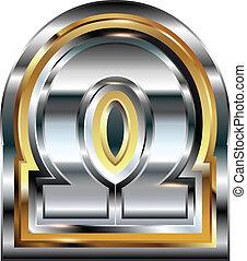 Fancy omega symbol