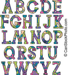 Colorful alphabet 2