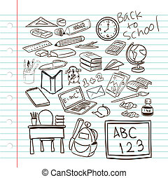 Back to School - Vector illustration of Back to School...