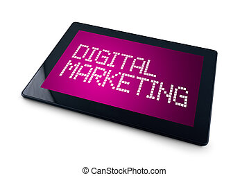 Digital Marketing on Generic Tablet computer display...