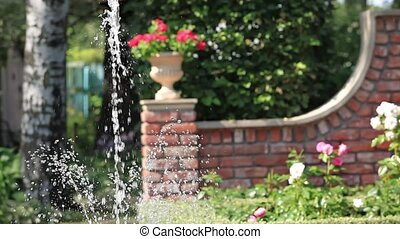Fountain in the rose garden