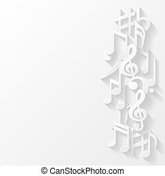 Background with musical notes - Abstract background with...
