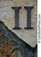 Roman Numeral II - Two - The Roman number II or Two on a...