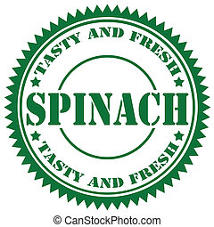 Spinach-stamp - Green rubber stamp with text Spinach,vector...