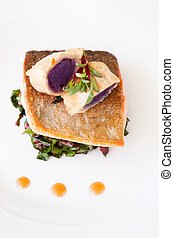 Crispy Seared Creemore Rainbow Trout - A gourmet dish of...