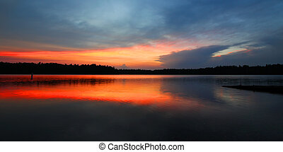 Northwoods Wisconsin Sunset - Brilliant colors of sunset...