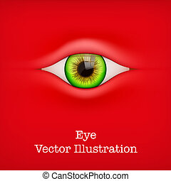 Background with human eye Vector Illustration - Red...
