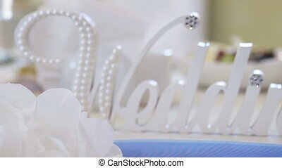 Title wedding - Panorama along decorative inscriptions...