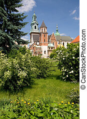 Wawel Castle in Krakow, Poland - Beautiful spring view of...