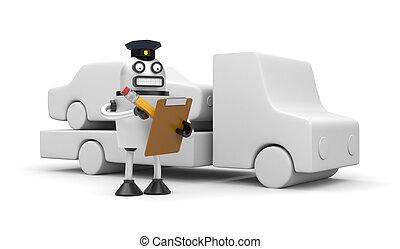 Robocop, oficial, Remolcar, Automóvil