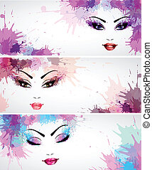 Set of fashion banners - Set of banners with fashion...